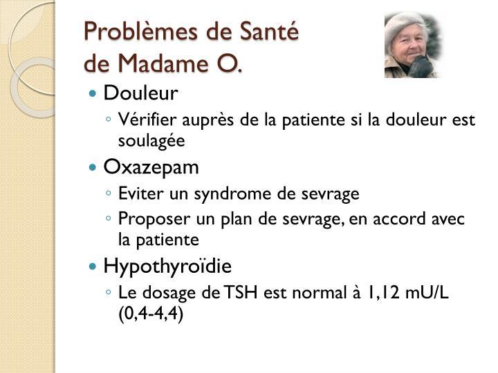 Problèmes de Santé