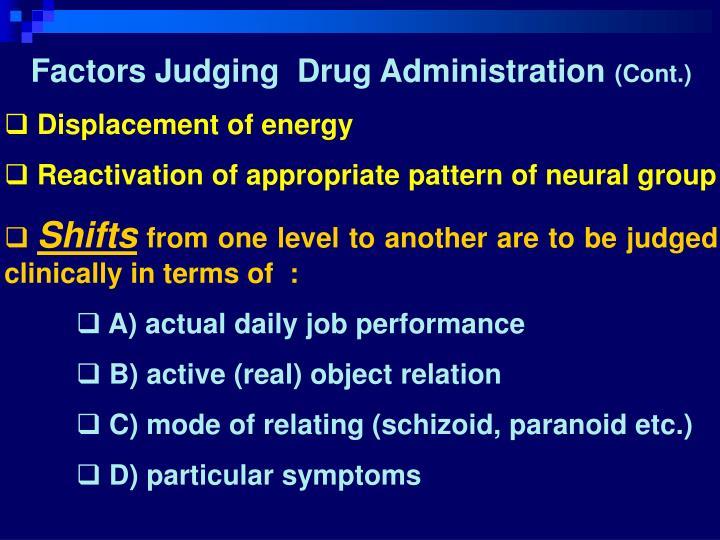 Factors Judging  Drug Administration