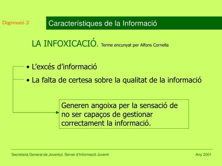 Característiques de la Informació
