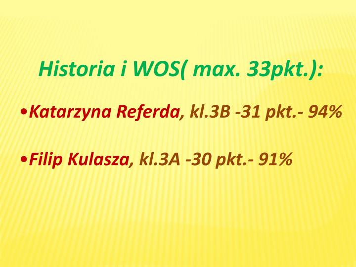 Historia i WOS(