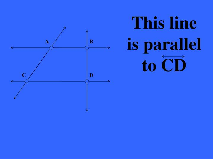 This line is parallel to CD