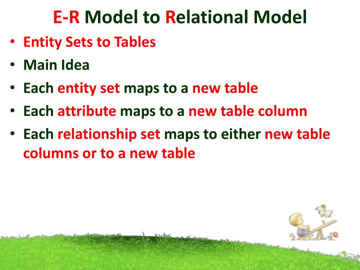 E r model to r elational model1