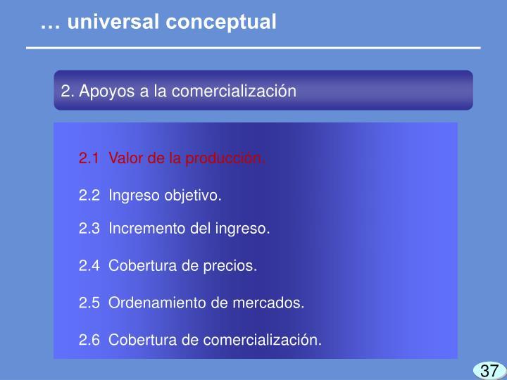 … universal conceptual