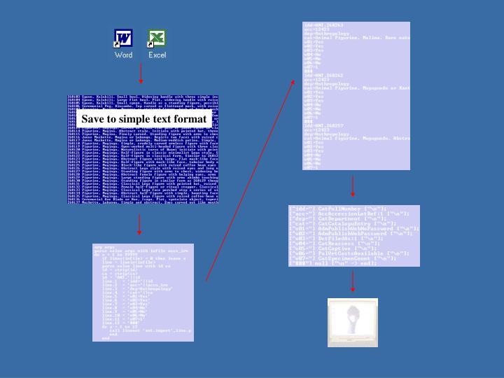 Scripting a data load