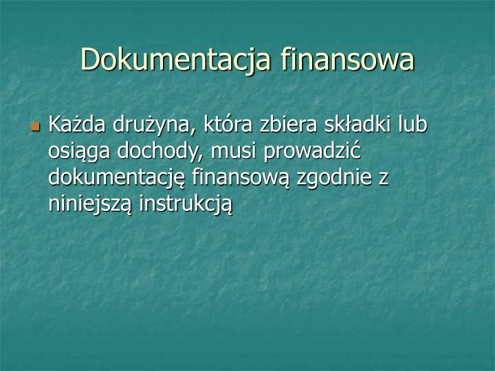 Dokumentacja finansowa