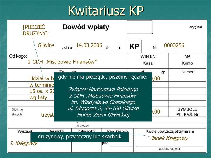 Kwitariusz KP