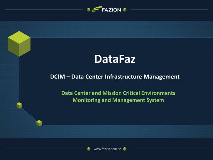 Datafaz dcim data center infrastructure management