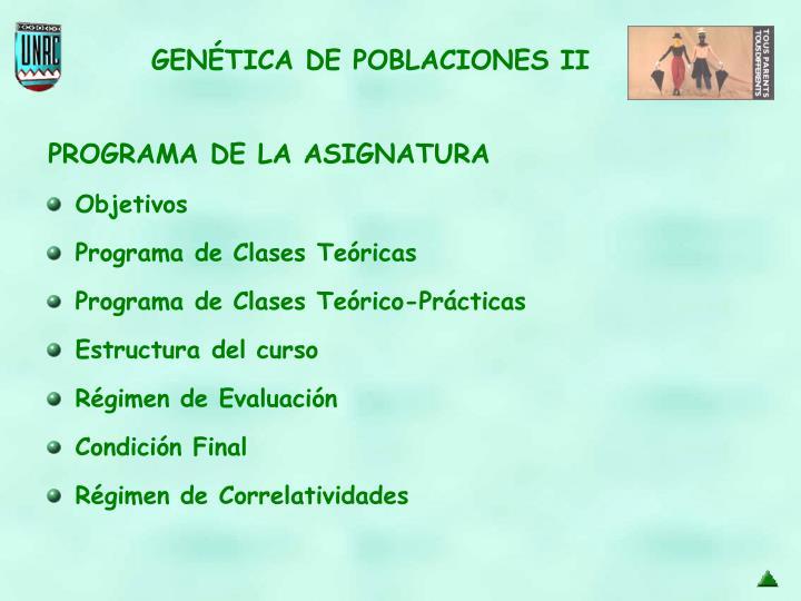 Estructura del curso