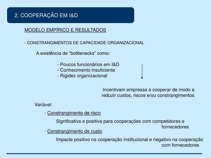 2. COOPERAÇÃO EM I&D