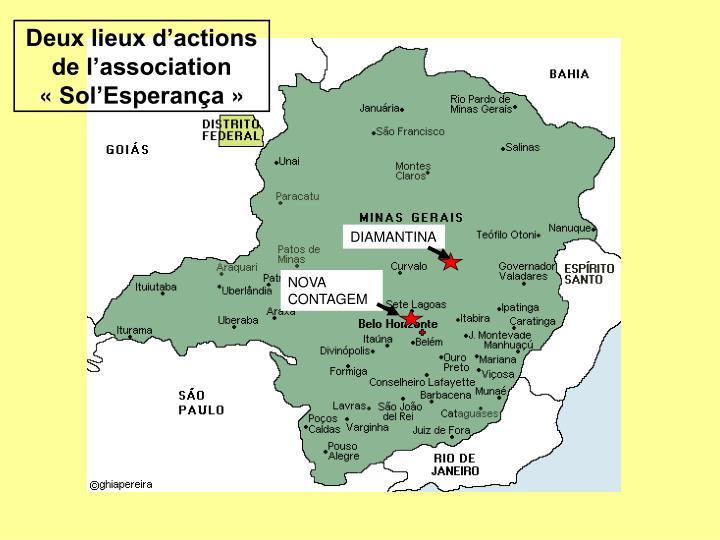 Deux lieux d'actions de l'association «Sol'Esperança»