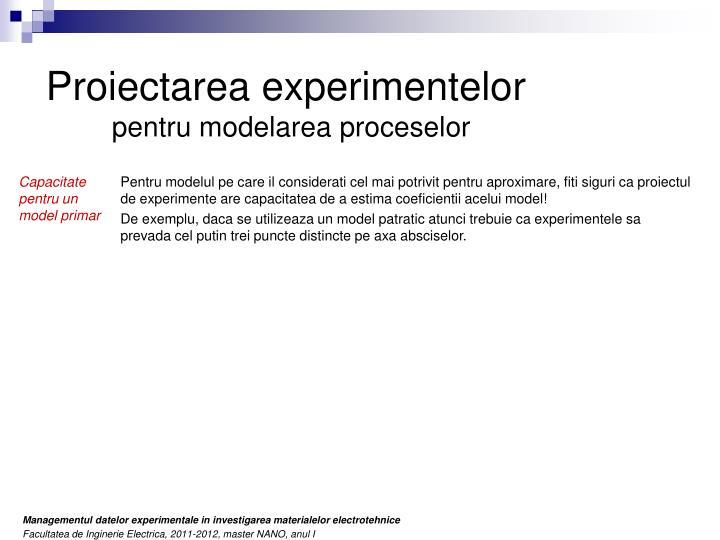 Proiectarea experimentelor