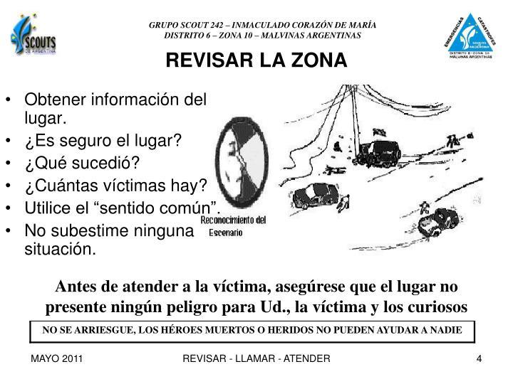 REVISAR LA ZONA