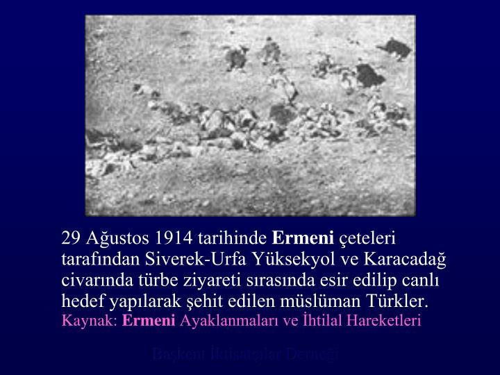 29 Ağustos 1914 tarihinde