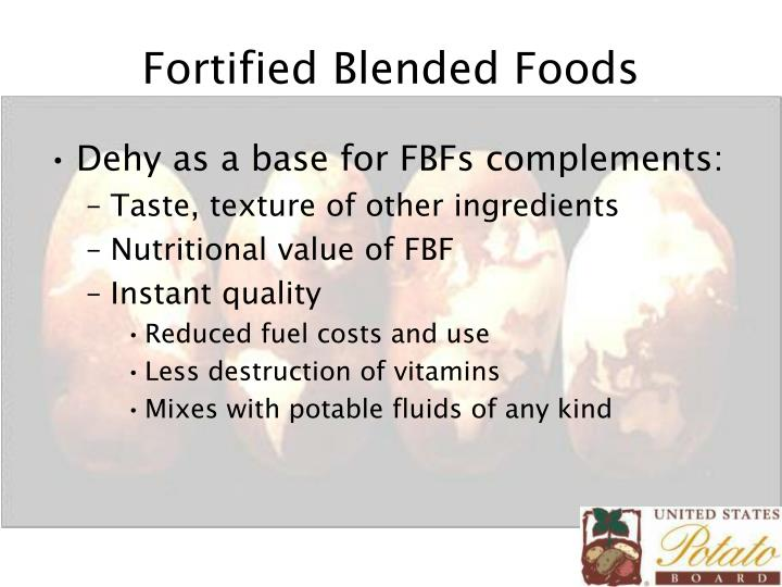 Fortified Blended Foods