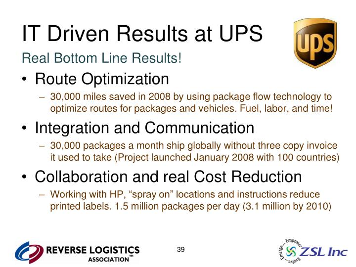 IT Driven Results at UPS