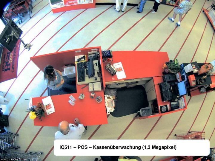 IQ511 – POS – Kassenüberwachung (1,3 Megapixel)