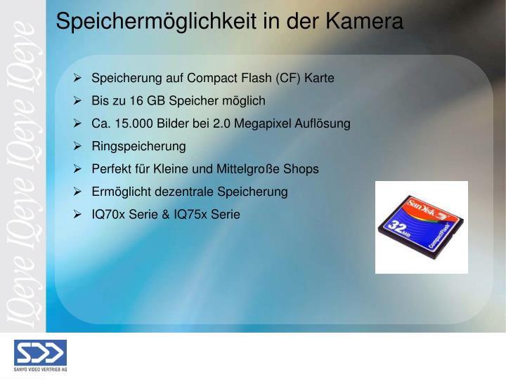 Speicherung auf Compact Flash (CF) Karte