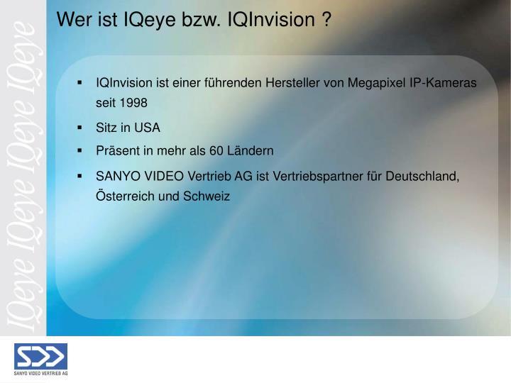 IQInvision ist einer führenden Hersteller von Megapixel IP-Kameras seit 1998