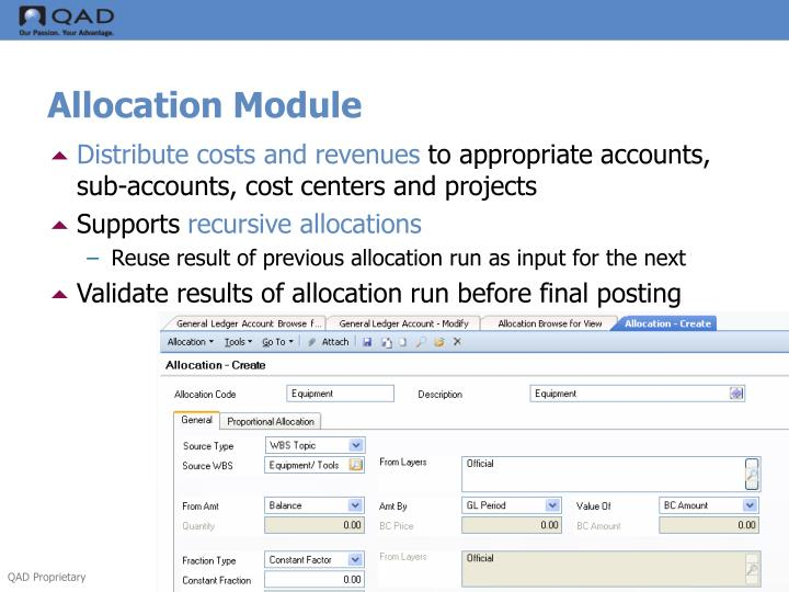 Allocation Module