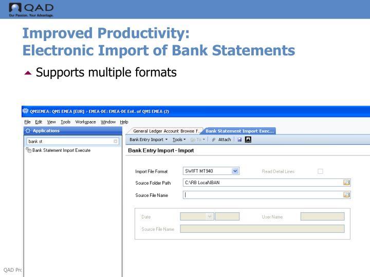Improved Productivity:
