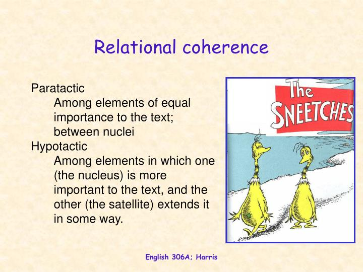 Relational coherence