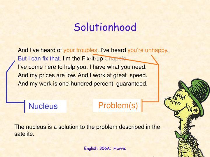 Solutionhood