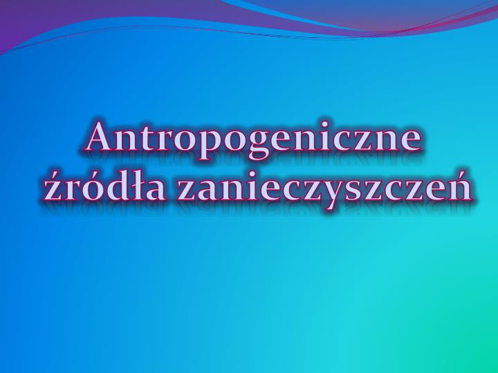 Antropogeniczne