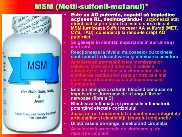 MSM (Metil-sulfonil-metanul)