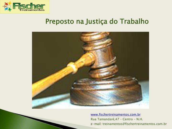 Preposto na Justiça do Trabalho