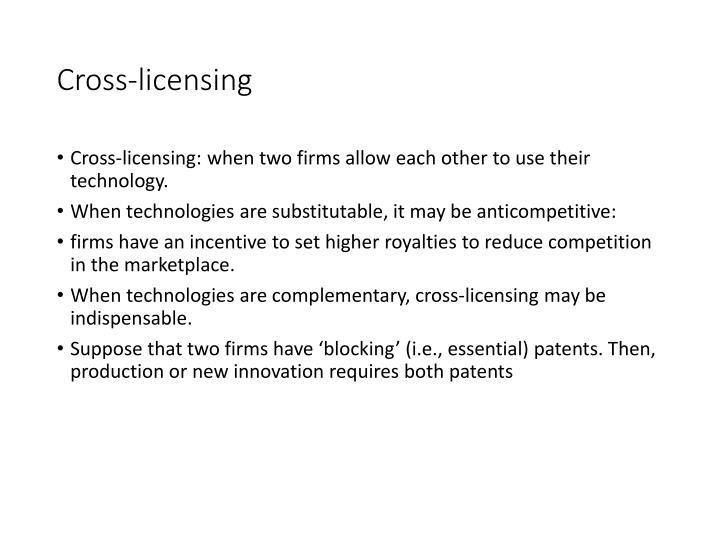 Cross-licensing