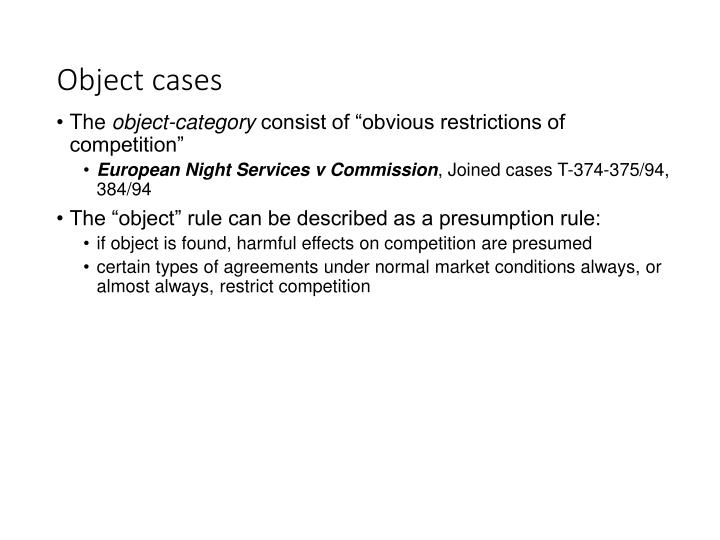 Object cases