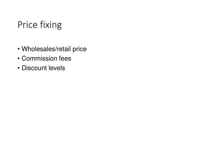 Price fixing