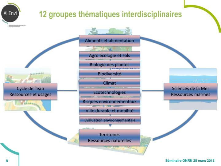 12 groupes thématiques interdisciplinaires