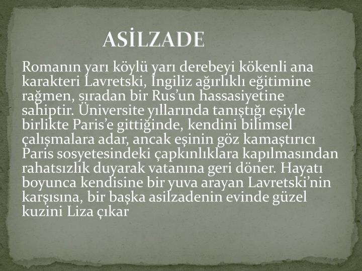 ASİLZADE