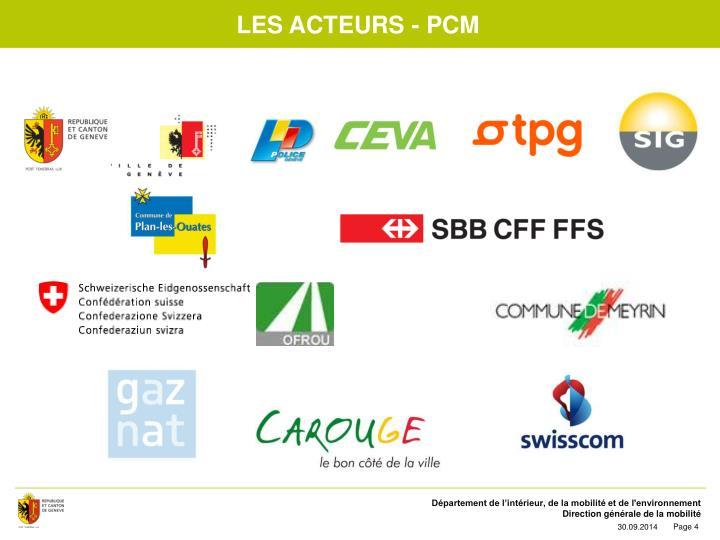 Les acteurs - PCM