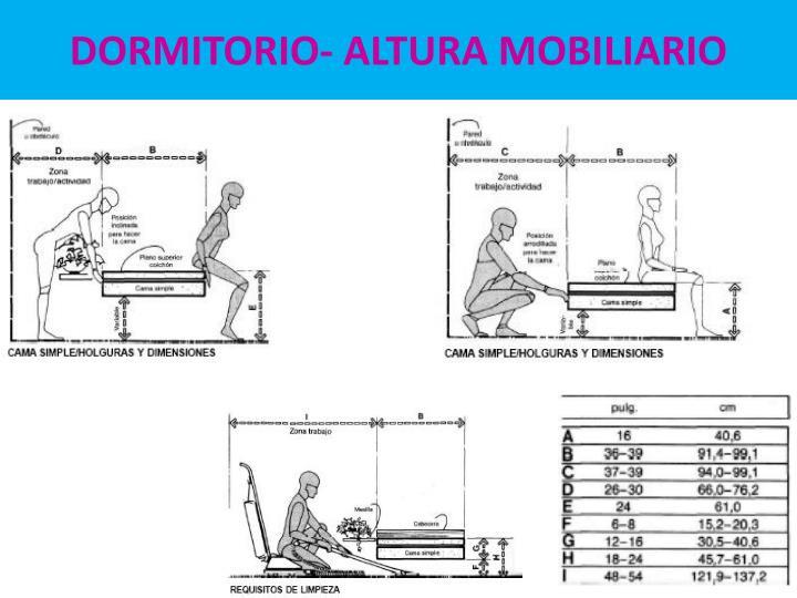 DORMITORIO- ALTURA MOBILIARIO