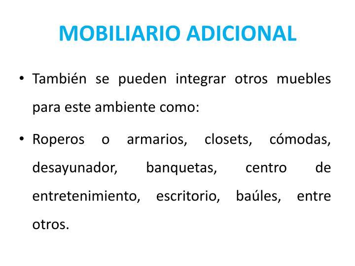 MOBILIARIO ADICIONAL