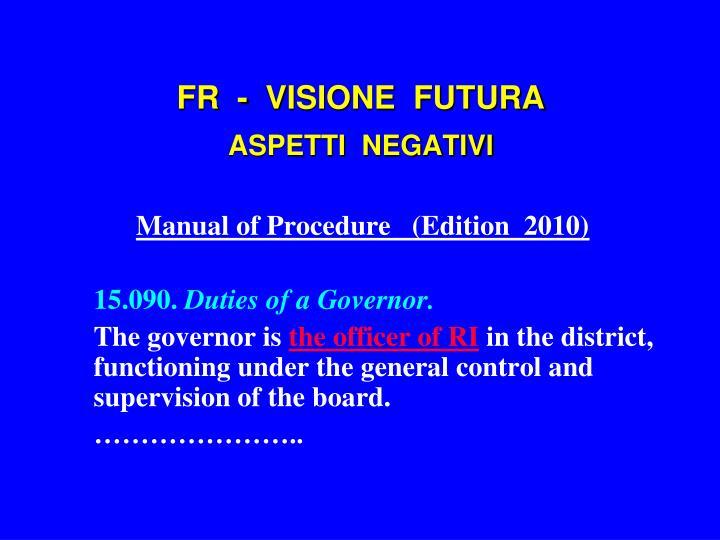 FR  -  VISIONE  FUTURA