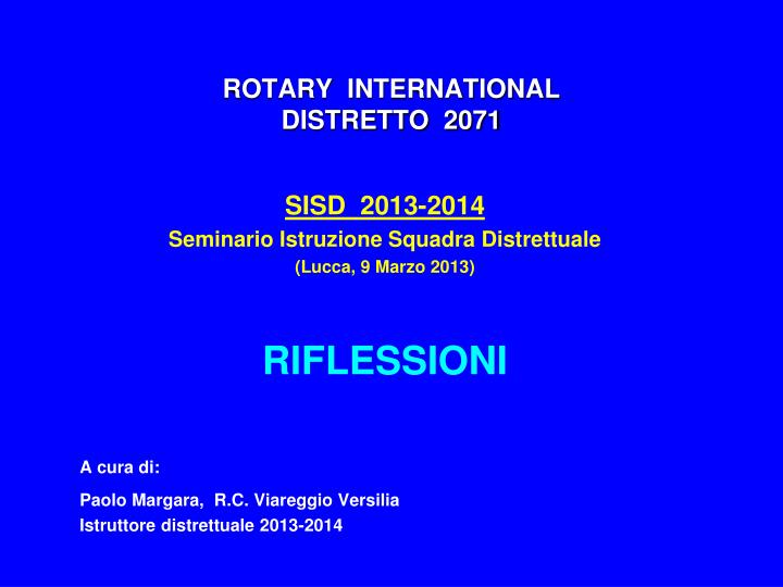 Rotary international distretto 2071