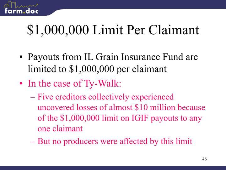 $1,000,000 Limit Per Claimant
