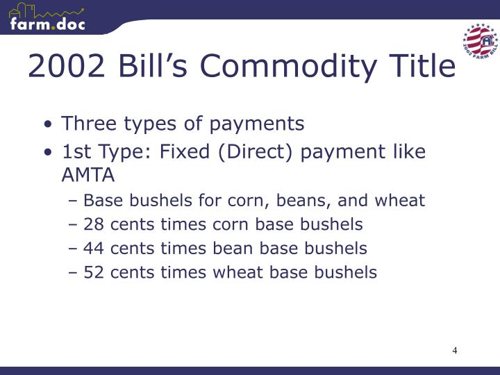2002 Bill's Commodity Title