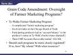 grain code amendment oversight of farmer marketing programs