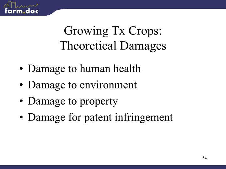 Growing Tx Crops:
