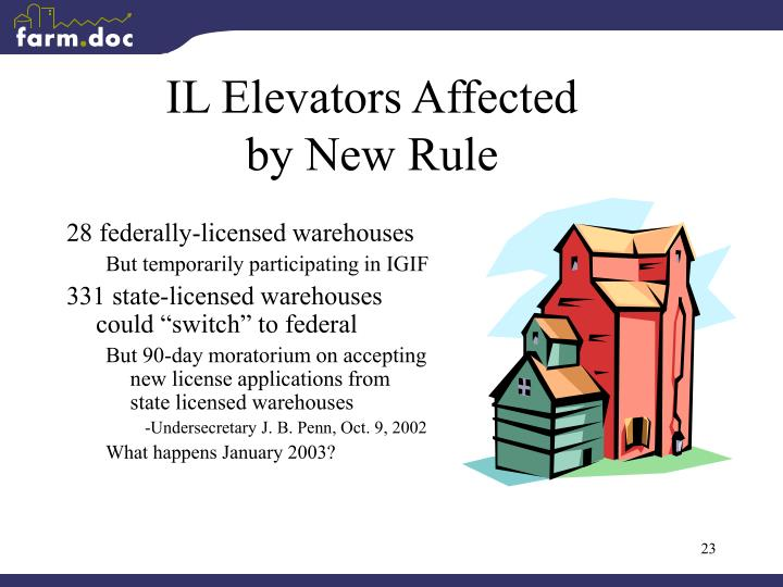 IL Elevators Affected by New Rule