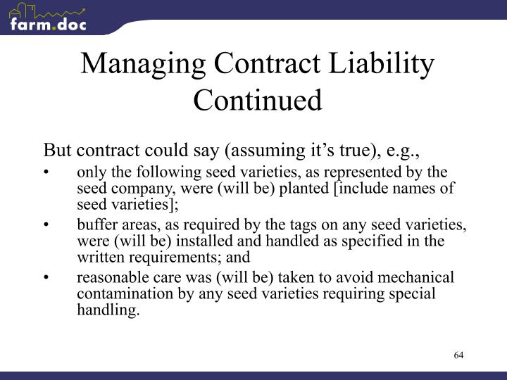 Managing Contract Liability