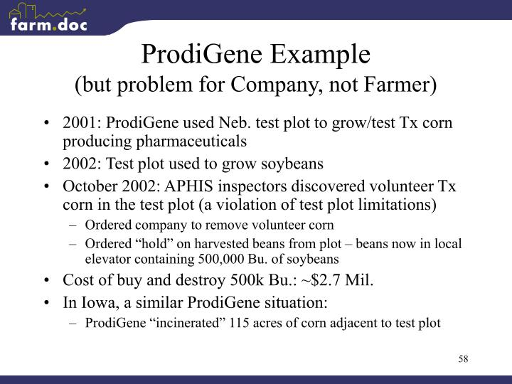 ProdiGene Example