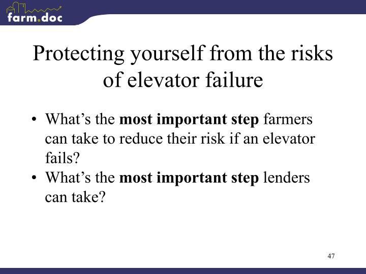 Protecting yourself from the risks of elevator failure