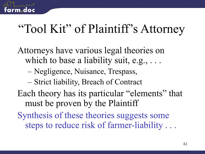 """Tool Kit"" of Plaintiff's Attorney"
