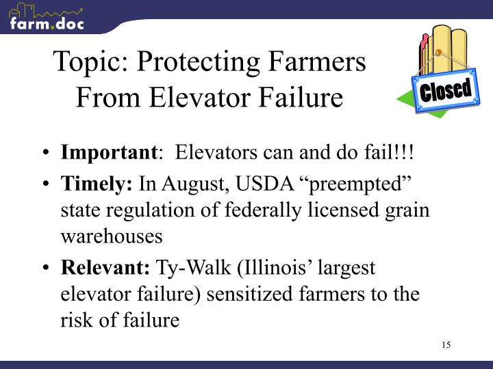 Topic: Protecting Farmers