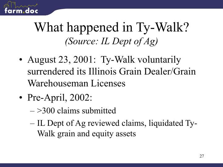 What happened in Ty-Walk?